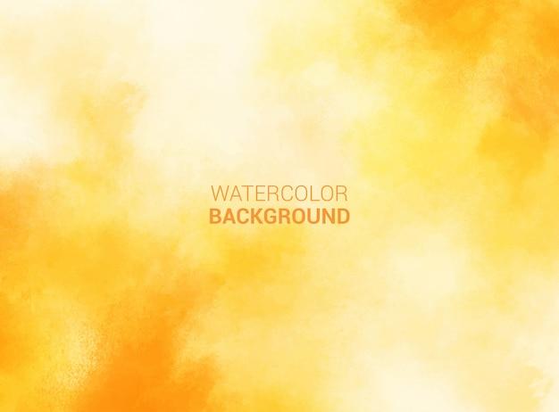 Fundo aquarela pastel amarelo. textura grunge pintura de arte digital Vetor Premium
