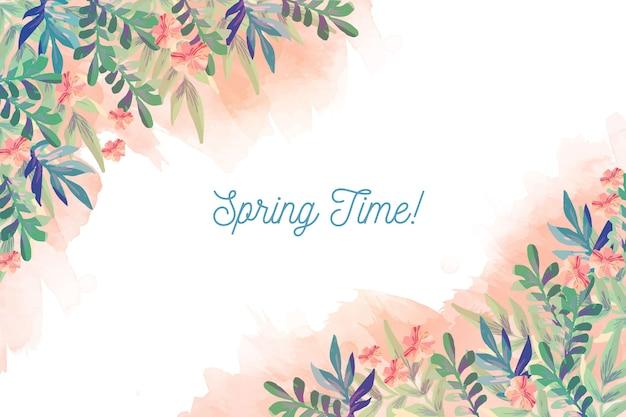 Fundo aquarela primavera Vetor grátis