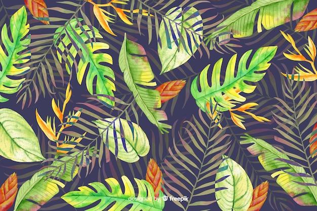 Fundo aquarela tropical Vetor grátis