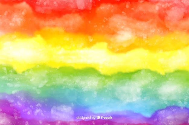 Fundo artístico do arco-íris tie-dye Vetor Premium