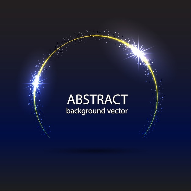 Fundo azul abstrato do efeito da luz do movimento. Vetor Premium