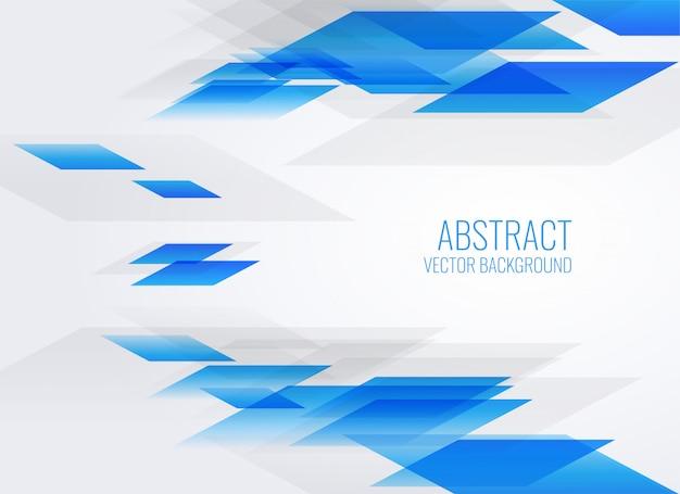 Fundo azul abstrato estilo geométrico Vetor grátis