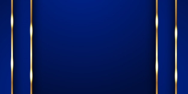 Fundo azul abstrato no estilo indiano superior. Vetor Premium