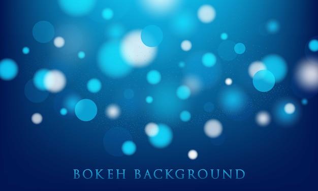 Fundo azul bokeh, abstrato, textura leve Vetor Premium