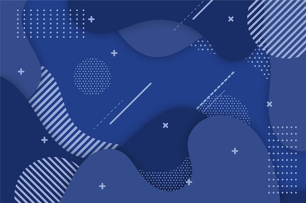 Fundo azul clássico com pontos e linhas Vetor grátis