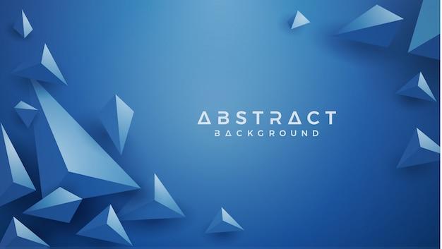 Fundo azul clássico do triângulo 3d. Vetor Premium