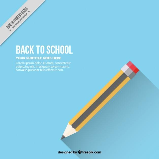 Fundo azul com lápis Vetor grátis