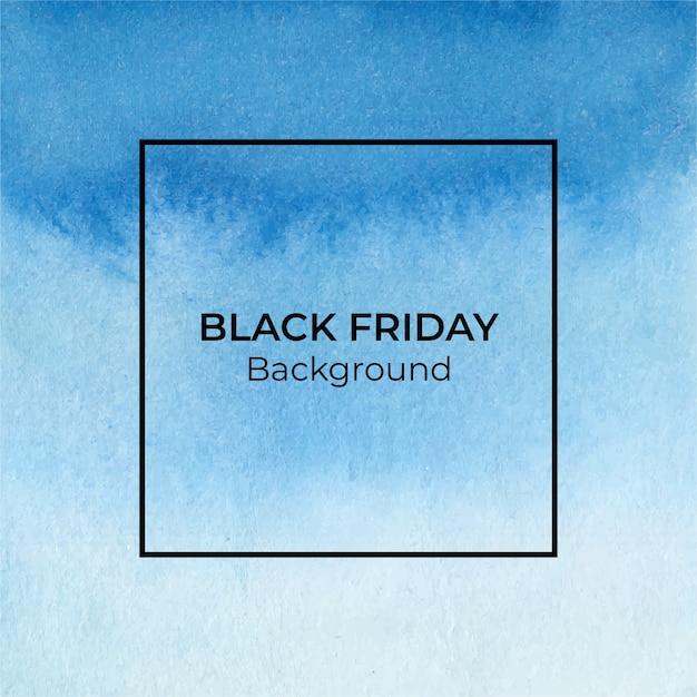 Fundo azul com textura aquarela blackfriday Vetor Premium