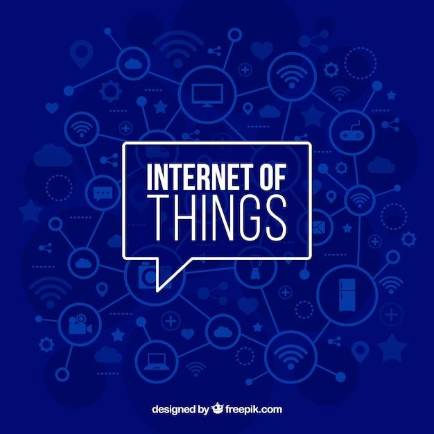 Fundo azul da internet das coisas Vetor grátis