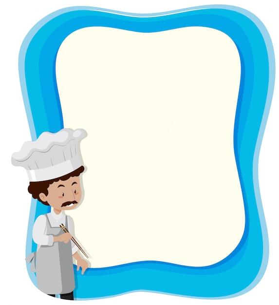 Fundo azul de chef anf Vetor grátis
