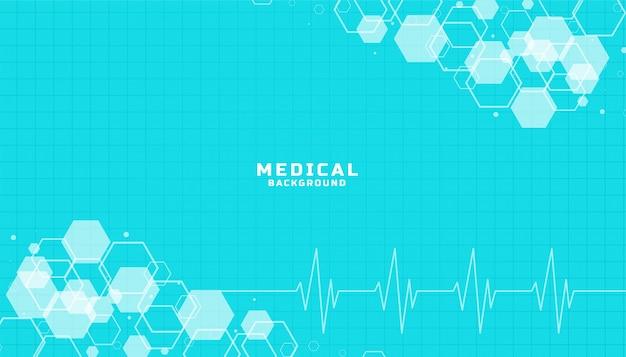 Fundo azul de cuidados de saúde e ciências médicas Vetor grátis