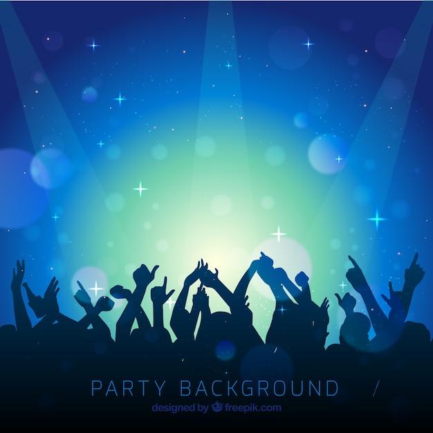 Fundo azul de pessoas em um concerto Vetor grátis
