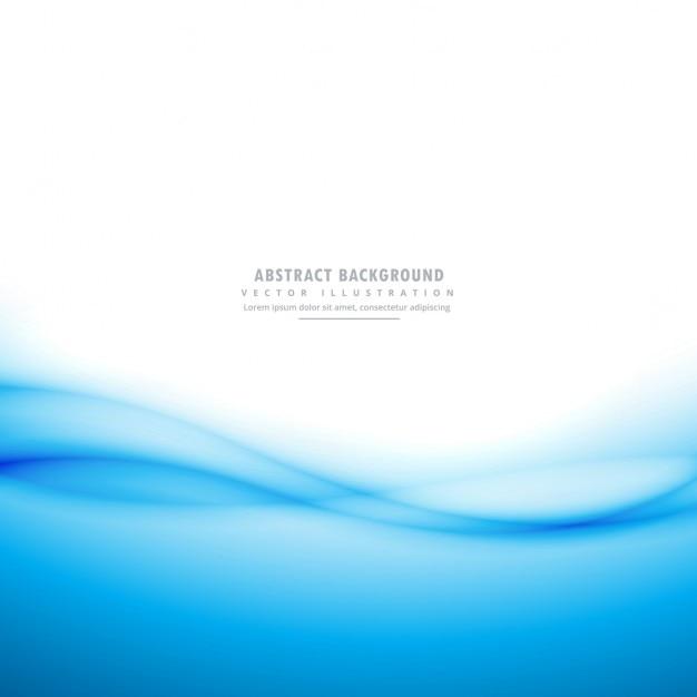 Fundo azul e branco com a onda Vetor grátis