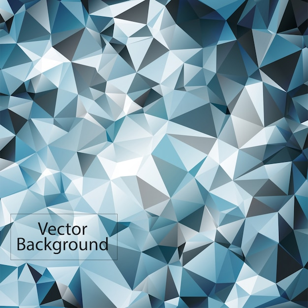 Fundo azul e branco mosaico poligonal Vetor Premium