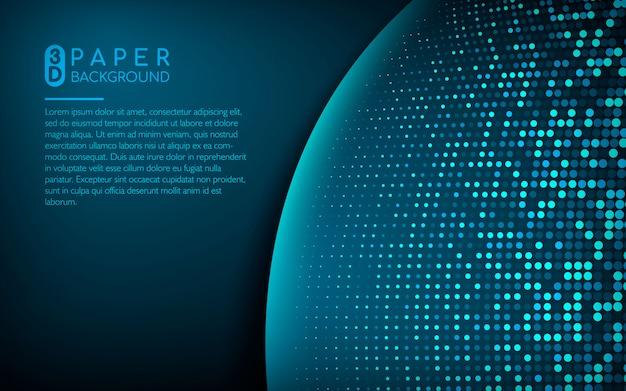 Fundo azul escuro com brilhos Vetor Premium