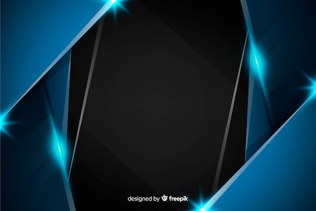Fundo azul escuro metálico abstrato Vetor grátis