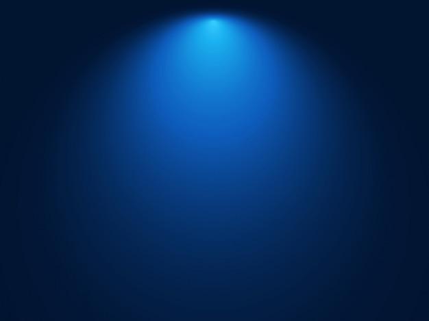 Fundo azul gradiente. efeito de luz spot Vetor Premium