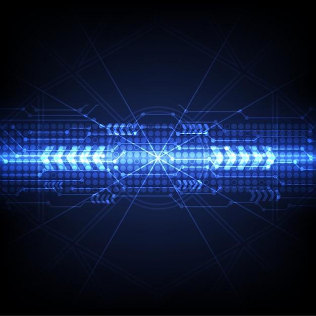 Fundo azul tecnologia futurista digital Vetor Premium