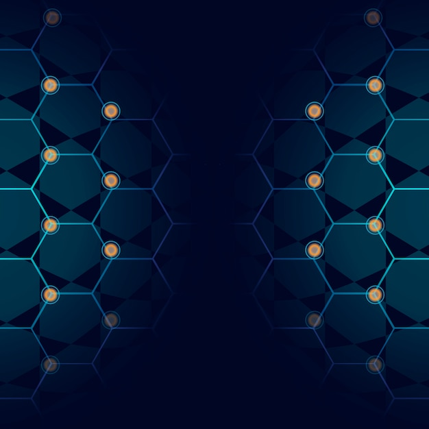 Fundo azul tecnologia Vetor grátis