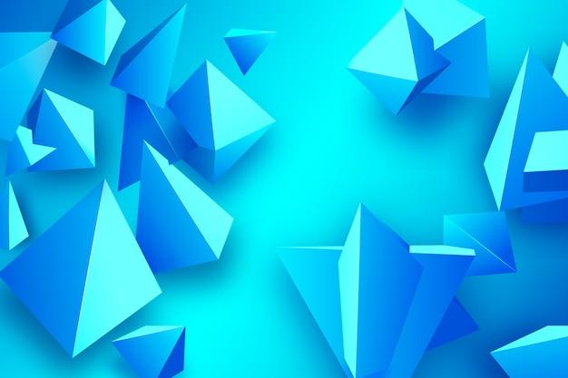 Fundo azul triângulo com cores vivas Vetor grátis
