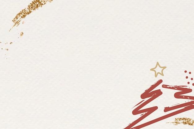 Fundo bege abstrato da árvore de natal Vetor grátis