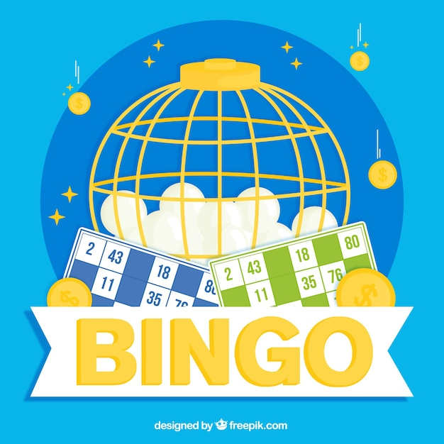 Fundo, bingo, esferas Vetor grátis