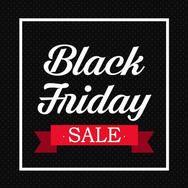 Fundo black friday sexta-feira Vetor Premium