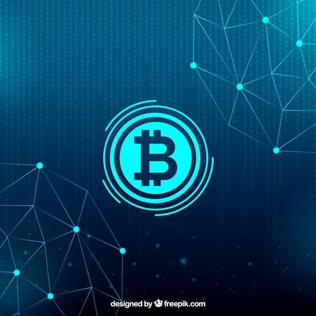 Fundo blockchain Vetor grátis