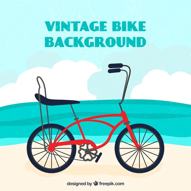 Fundo bonito com bicicleta vintage Vetor grátis