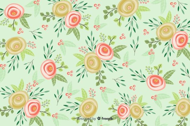 Fundo bonito com rosas Vetor grátis