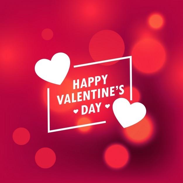 fundo bonito Dia dos Namorados feliz com efeito do bokeh Vetor grátis