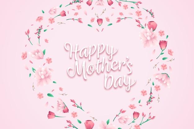 Fundo bonito do dia das mães Vetor grátis