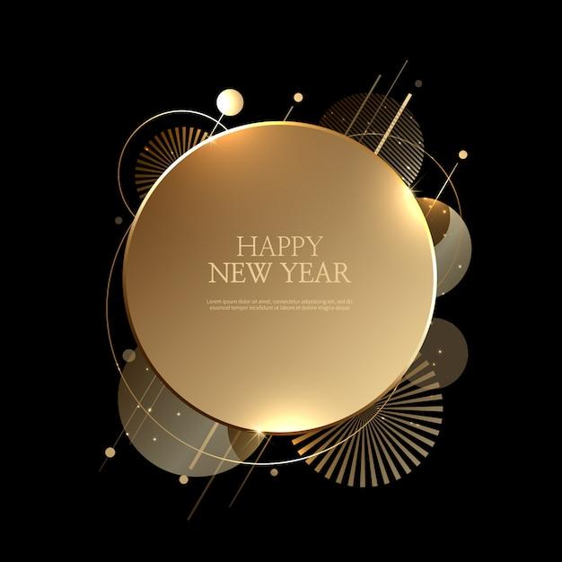Fundo bonito feliz ano novo Vetor Premium