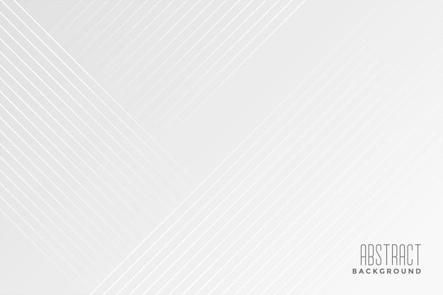 Fundo branco com desenho de linhas diagonais Vetor grátis