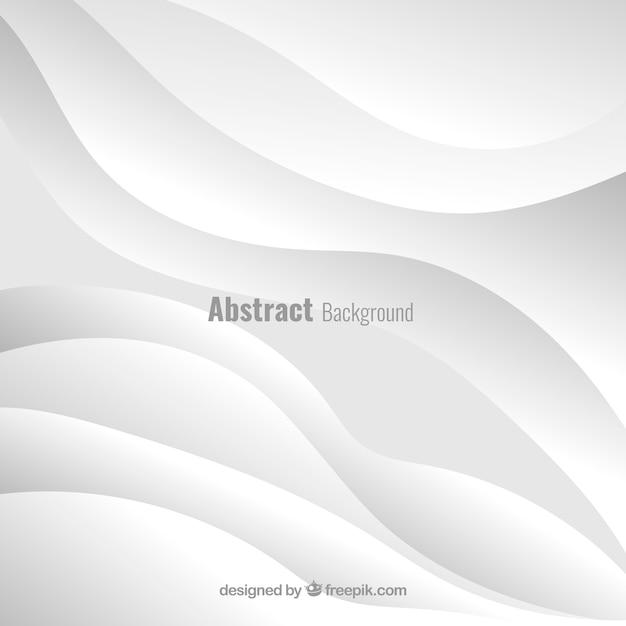 Fundo branco com design abstrato Vetor grátis