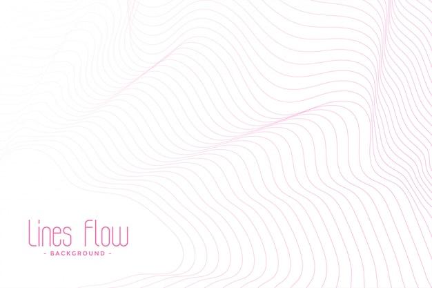 Fundo branco com linhas fluidas rosa Vetor grátis
