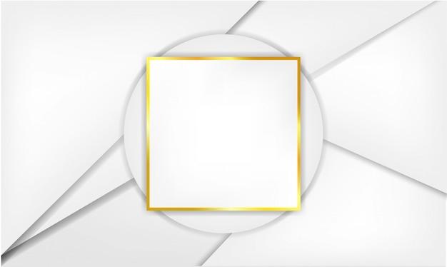 Fundo branco com moldura Vetor Premium