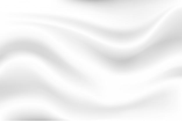 Fundo branco com ondas de leite parece macio, como um pano branco balançando. Vetor Premium