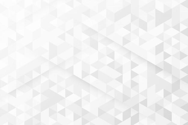 Fundo branco com padrões de triângulo Vetor grátis