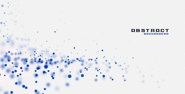 Fundo branco com partículas azuis Vetor grátis