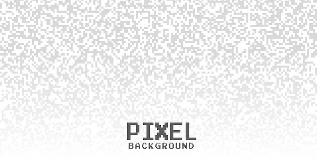 Fundo branco com pontos de pixel cinza Vetor grátis