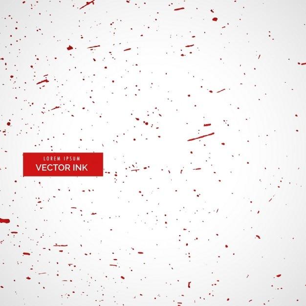 Fundo branco com respingos de tinta vermelha Vetor grátis