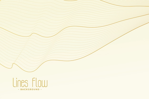 Fundo branco com traços de linha dourada Vetor grátis