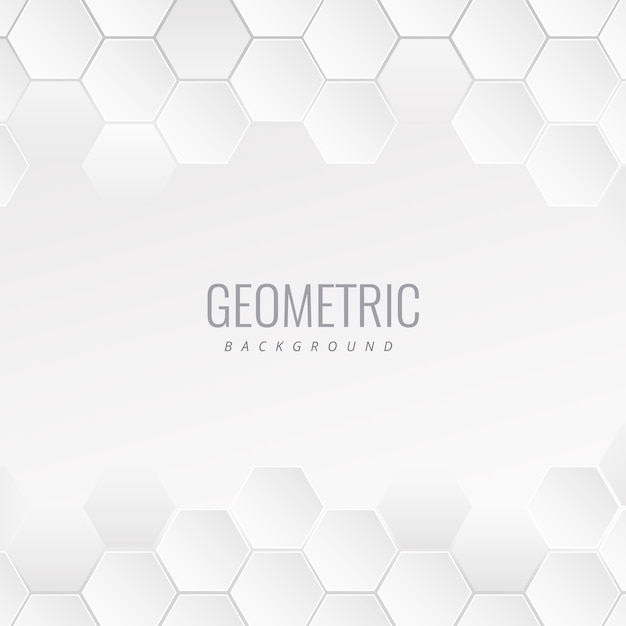 Fundo branco conceito geométrico de médico Vetor Premium