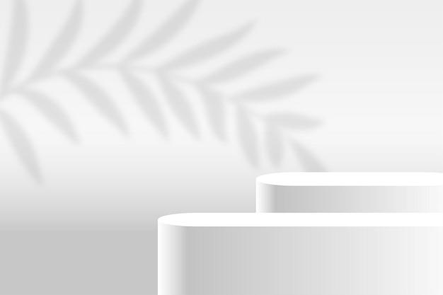 Fundo branco da plataforma do palco de exibição do produto Vetor grátis