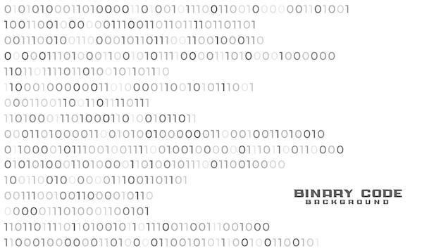 Fundo branco de tecnologia de rede de código binário Vetor grátis