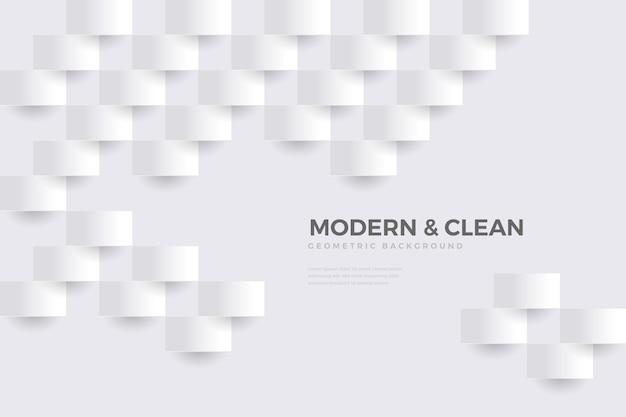 Fundo branco em design de papel 3d Vetor grátis