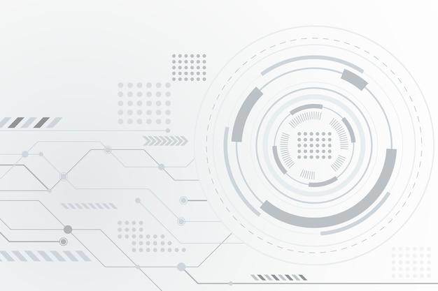 Fundo branco futurista tecnologia Vetor grátis