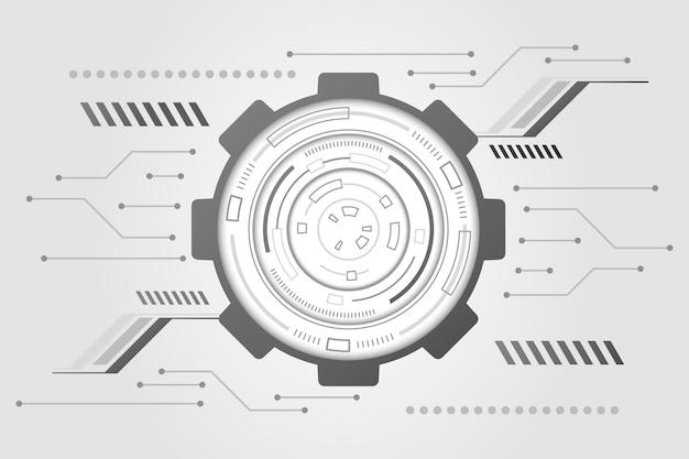 Fundo branco mínimo de tecnologia Vetor grátis