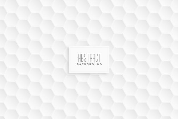 Fundo branco padrão hexagonal 3d Vetor grátis